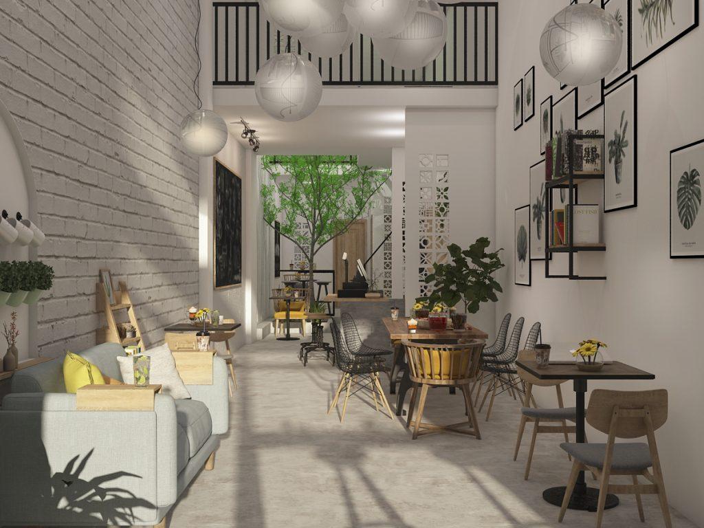 Thi công điện nước, đèn trang trí quán cà phê quận Long Biên