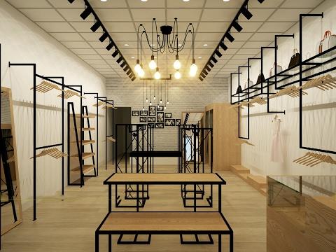 Thiết kế, thi công toàn diện shop thời trang quận Cầu Giấy