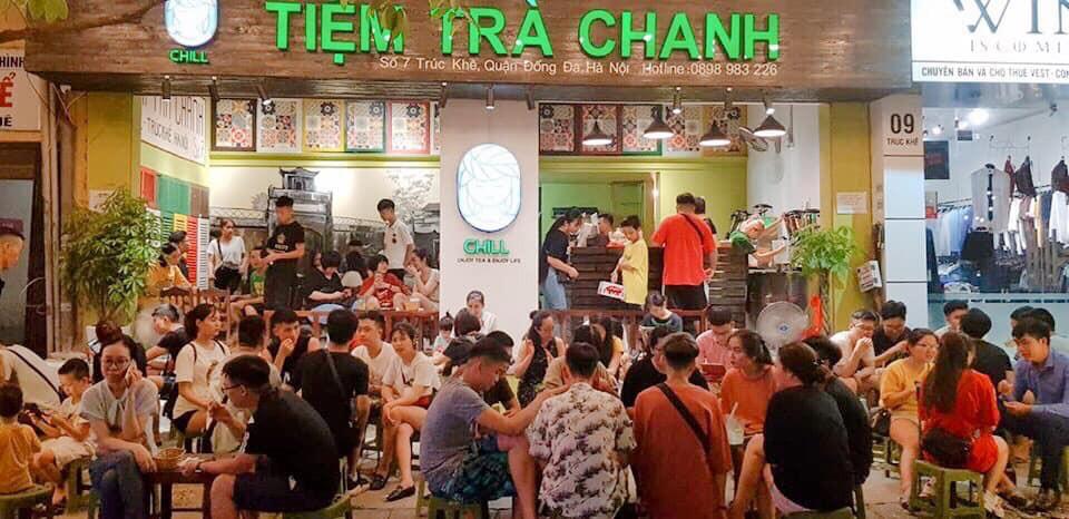 Thiết kế, thi công quán trà chanh quận Hoàn Kiếm giá rẻ.