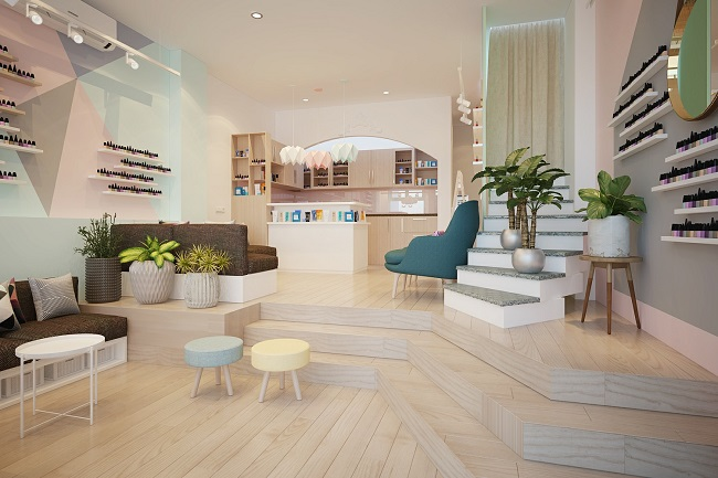 Thiết kế, thi công trọn gói quán Nail - Spa quận Hoàn Kiếm